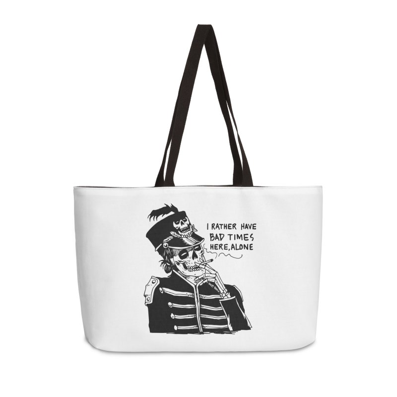 Ridin' Solo On Bad Times Accessories Weekender Bag Bag by Skullpel Illustrations's Artist Shop