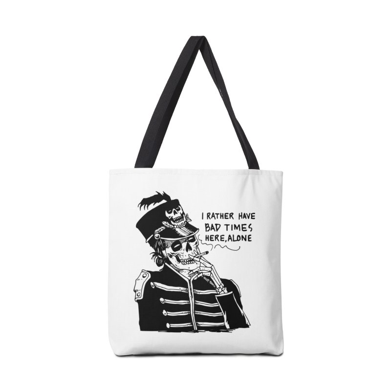 Ridin' Solo On Bad Times Accessories Tote Bag Bag by Skullpel Illustrations's Artist Shop