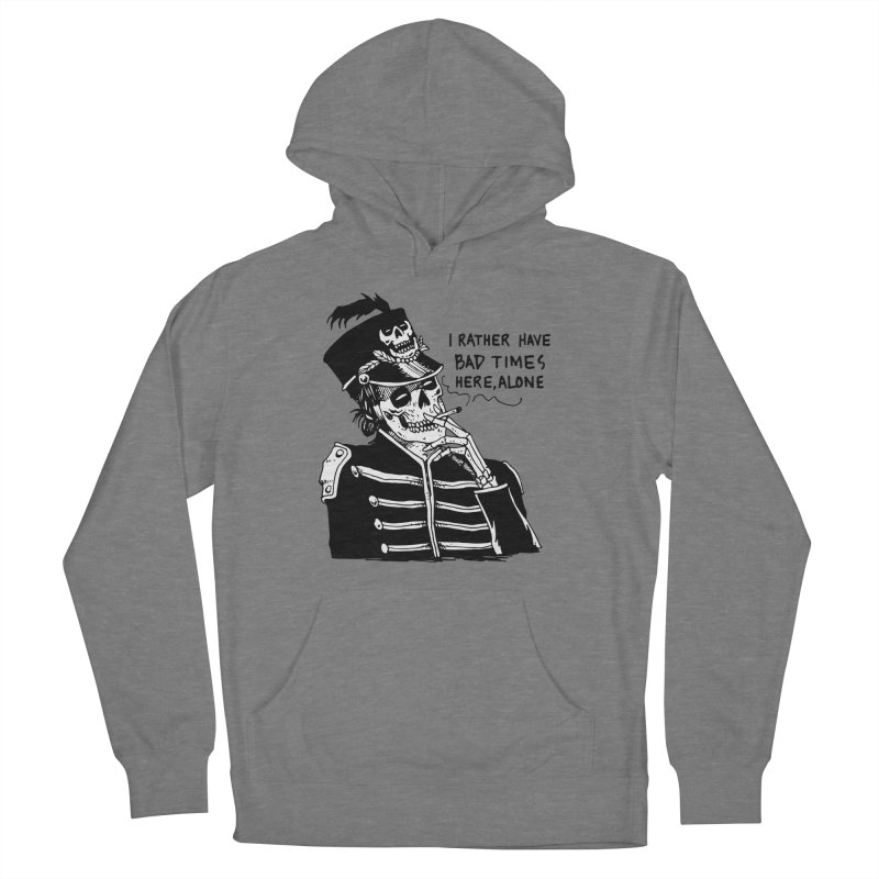 Ridin' Solo On Bad Times Men's French Terry Pullover Hoody by Skullpel Illustrations's Artist Shop