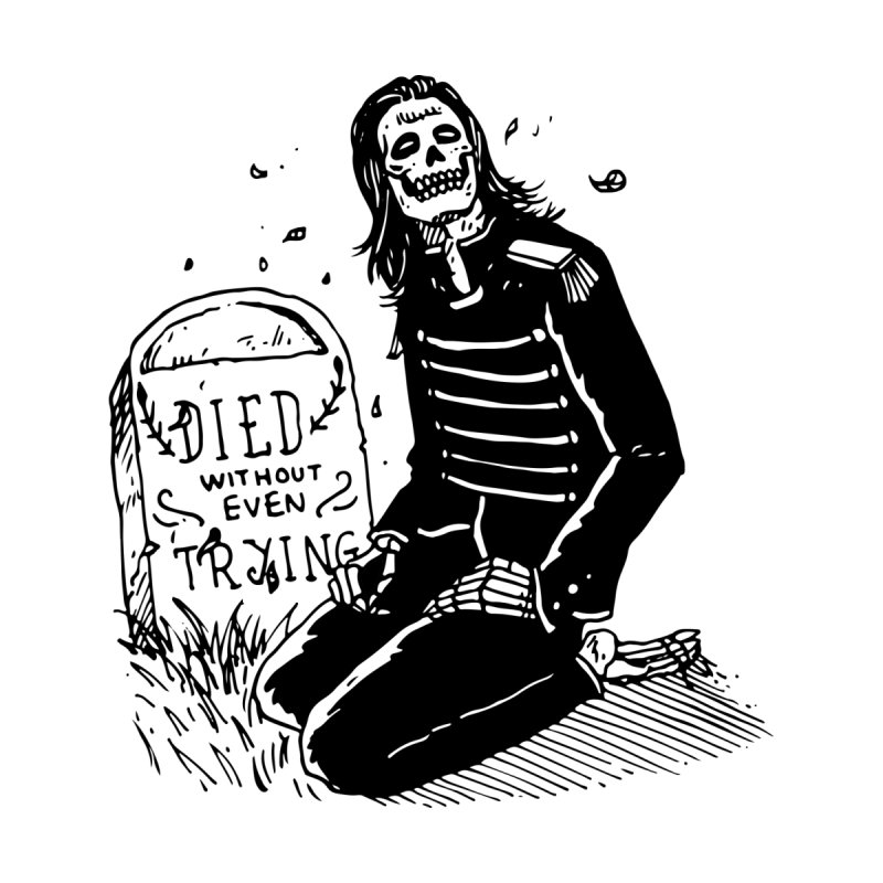 Died Without Even Trying by Skullpel Illustrations's Artist Shop