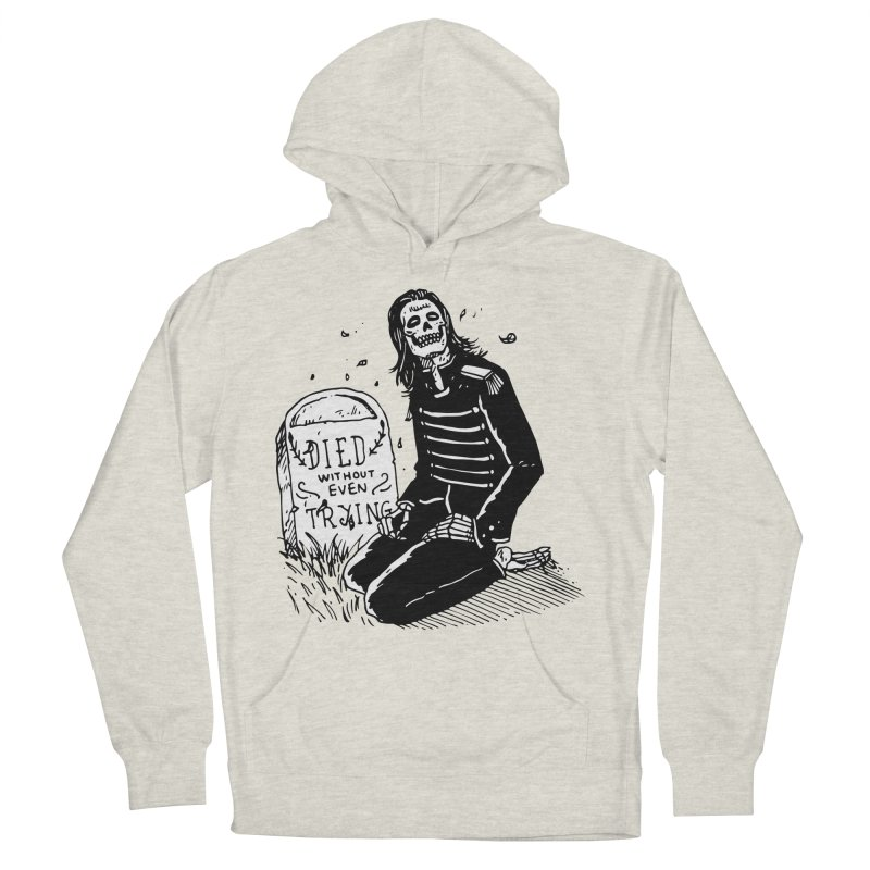 Died Without Even Trying Men's French Terry Pullover Hoody by Skullpel Illustrations's Artist Shop