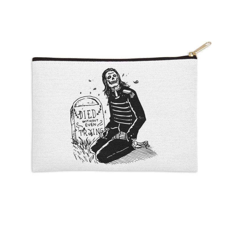 Died Without Even Trying Accessories Zip Pouch by Skullpel Illustrations's Artist Shop