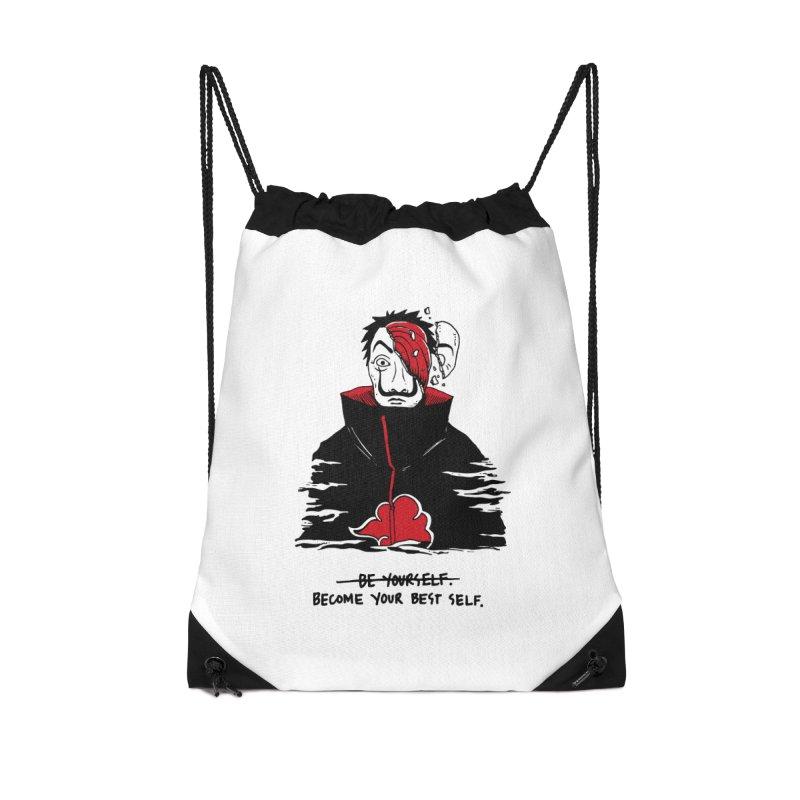 Become Your Better Self Accessories Drawstring Bag Bag by Skullpel Illustrations's Artist Shop