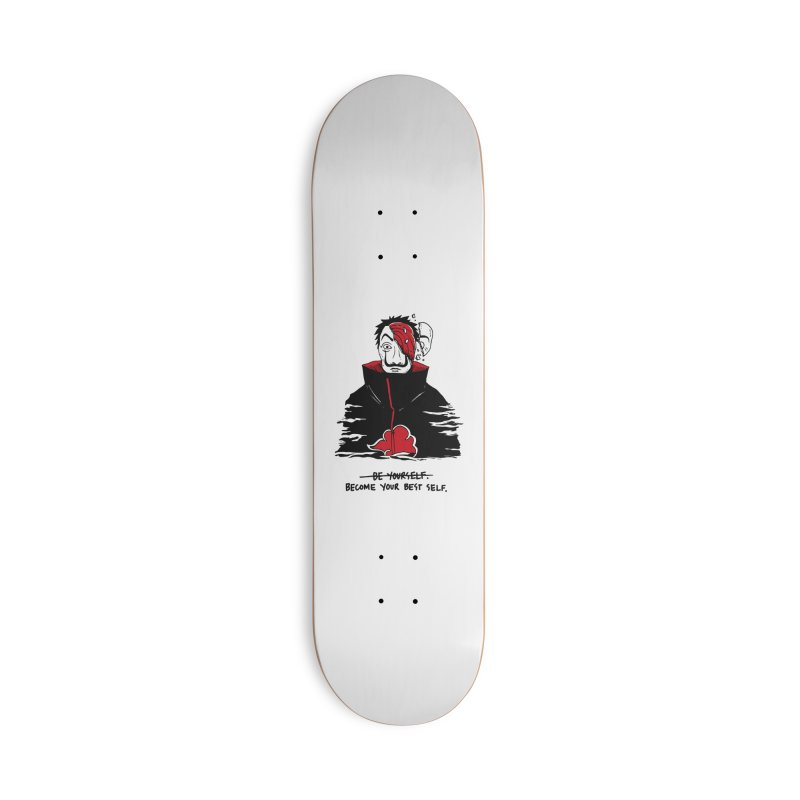 Become Your Better Self Accessories Deck Only Skateboard by Skullpel Illustrations's Artist Shop