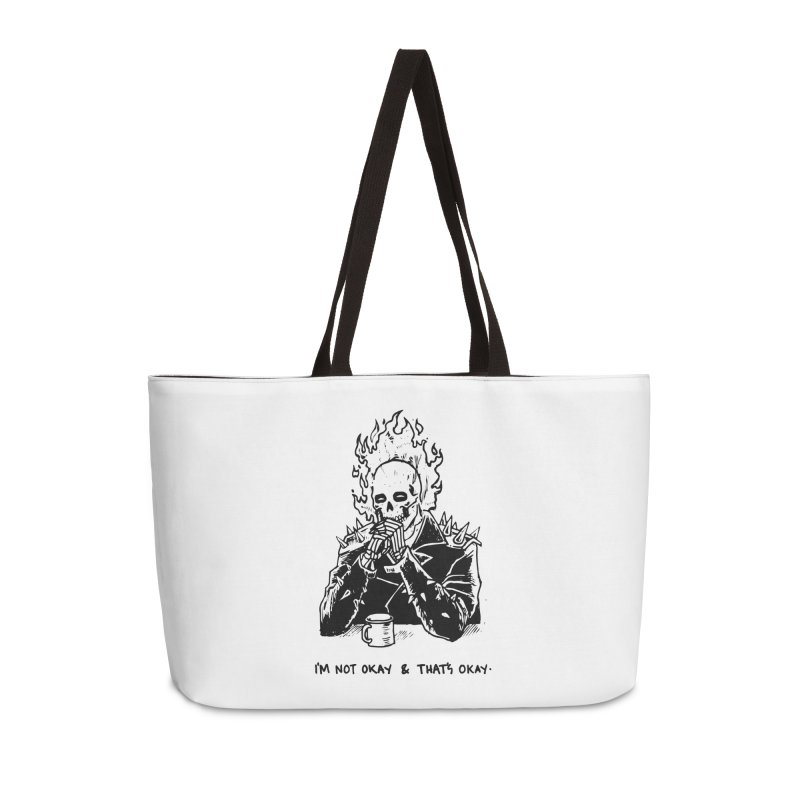 ...And That's Okay Accessories Weekender Bag Bag by Skullpel Illustrations's Artist Shop