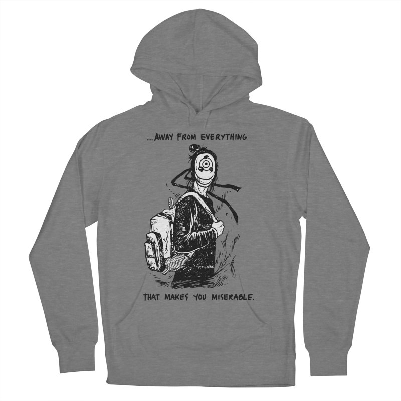 Away From Everything Women's French Terry Pullover Hoody by Skullpel Illustrations's Artist Shop