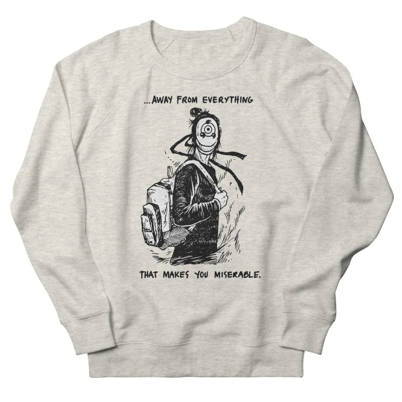 Away From Everything Women's French Terry Sweatshirt by Skullpel Illustrations's Artist Shop