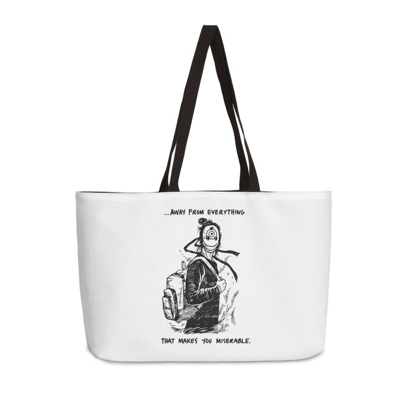 Away From Everything Accessories Weekender Bag Bag by Skullpel Illustrations's Artist Shop