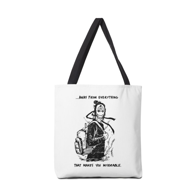Away From Everything Accessories Tote Bag Bag by Skullpel Illustrations's Artist Shop