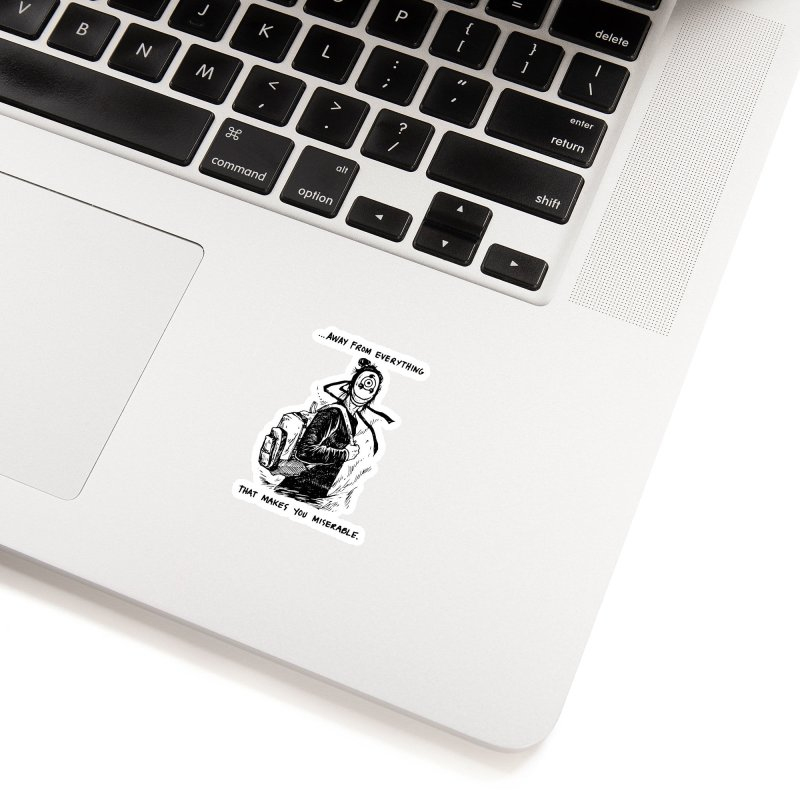Away From Everything Accessories Sticker by Skullpel Illustrations's Artist Shop
