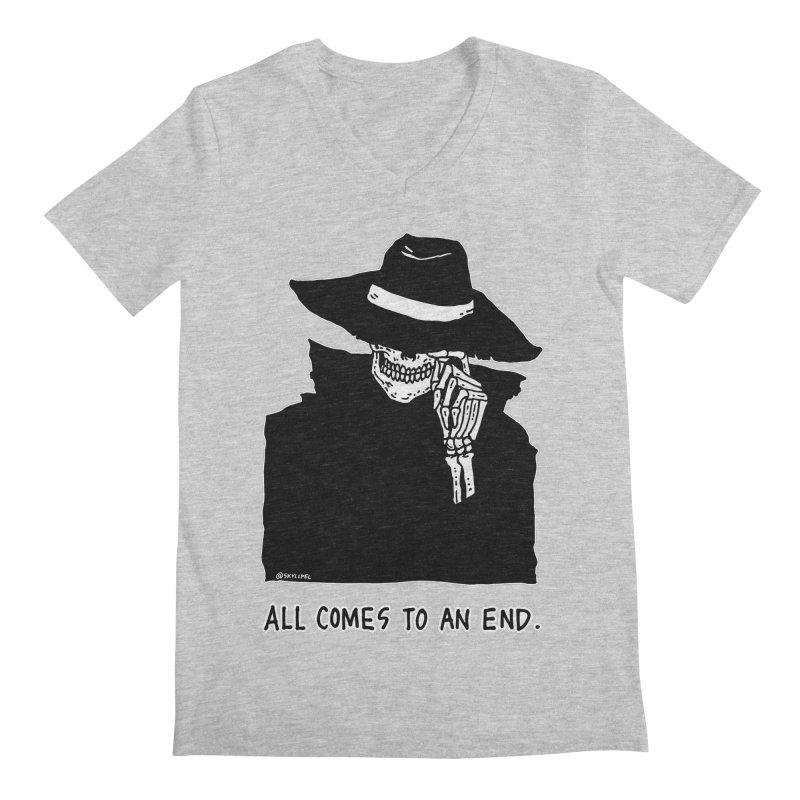 All Comes To An End Men's Regular V-Neck by skullpelillustrations's Artist Shop