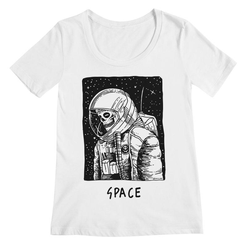 I Need Space Women's Scoopneck by skullpelillustrations's Artist Shop