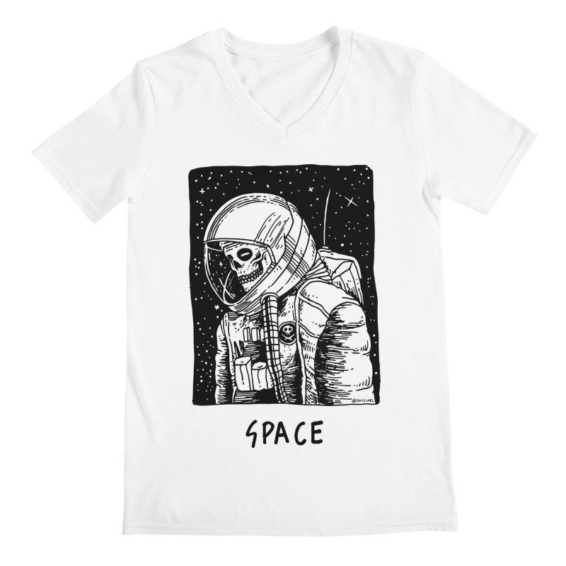 I Need Space Men's Regular V-Neck by skullpelillustrations's Artist Shop