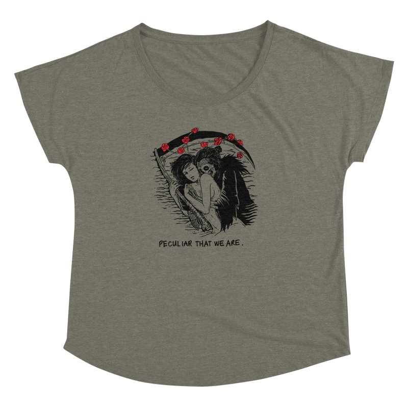 Peculiar Lovers That We Are Women's Dolman Scoop Neck by skullpelillustrations's Artist Shop
