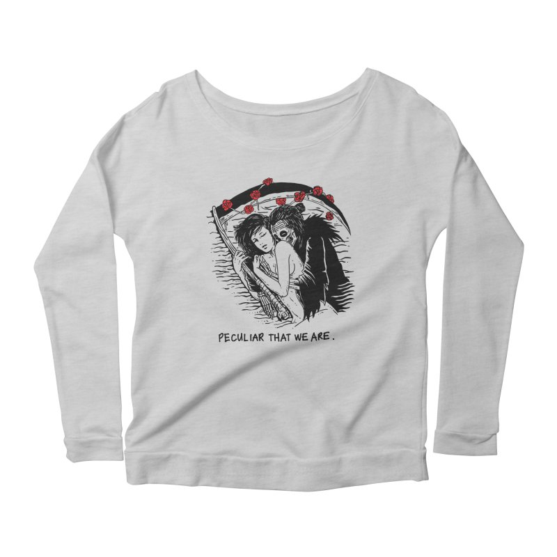Peculiar Lovers That We Are Women's Scoop Neck Longsleeve T-Shirt by skullpel illustrations's Artist Shop