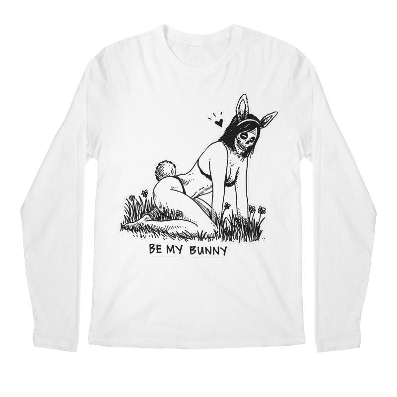 Be My Bunny Men's Longsleeve T-Shirt by skullpelillustrations's Artist Shop
