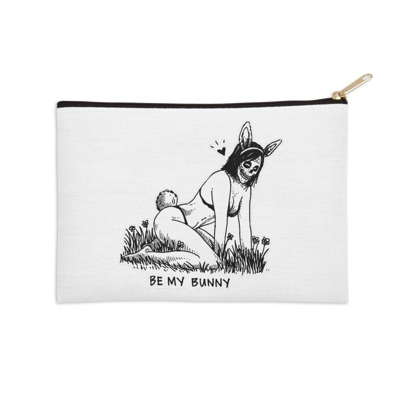 Be My Bunny Accessories Zip Pouch by skullpelillustrations's Artist Shop