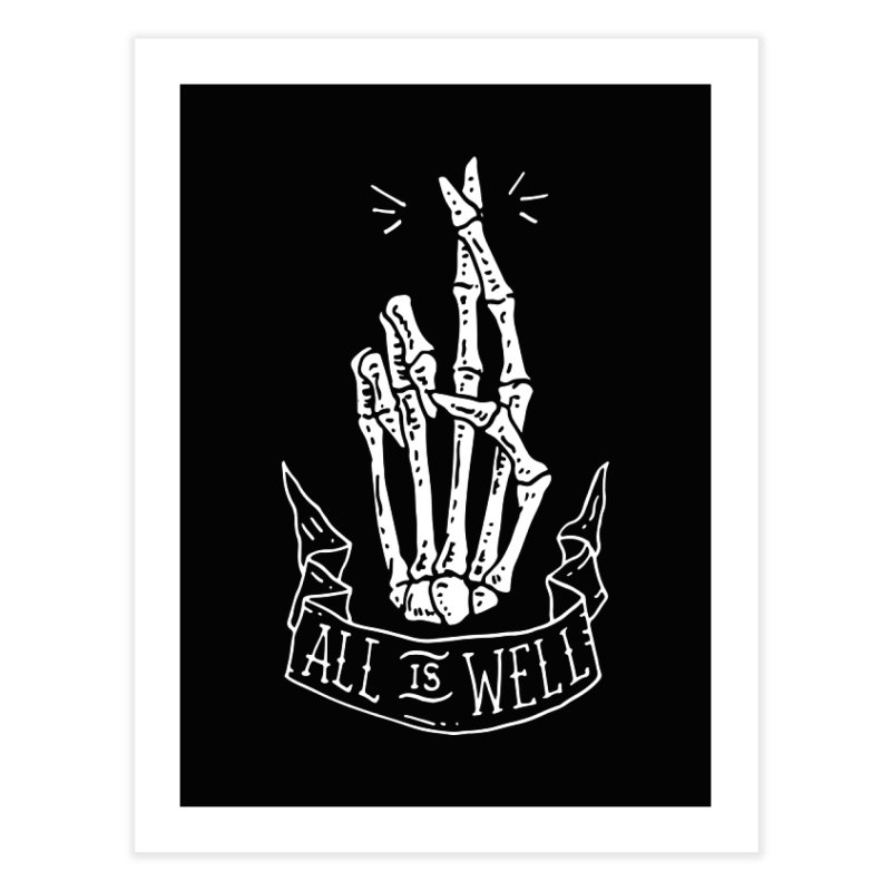 All is Well Home Fine Art Print by skullpelillustrations's Artist Shop