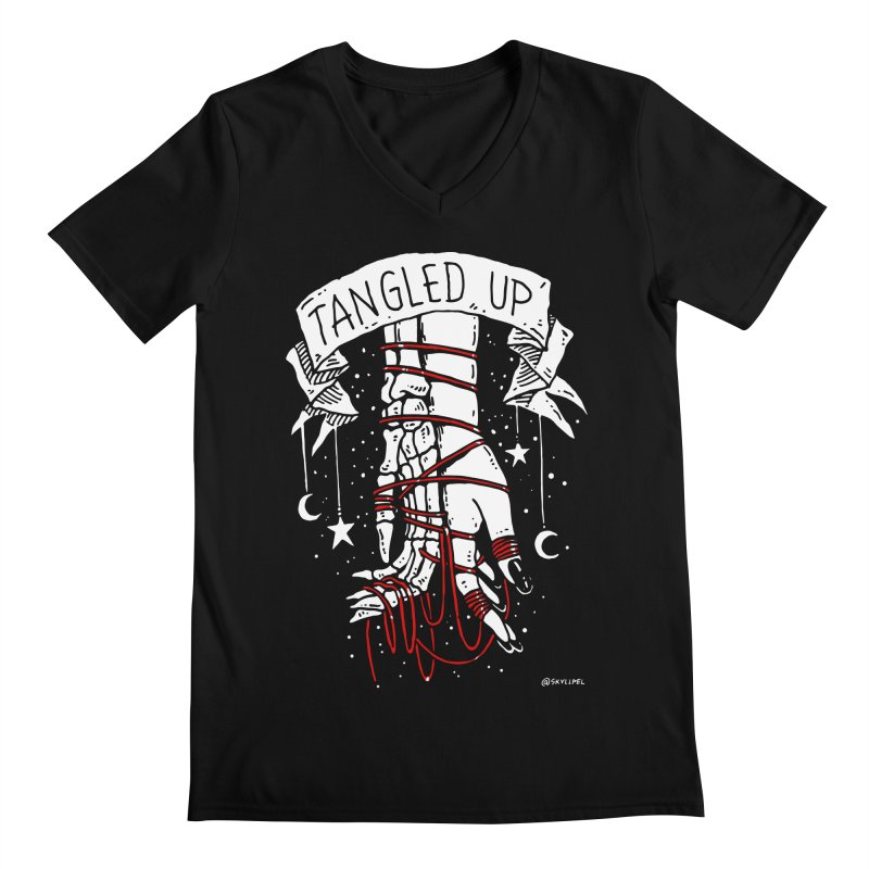 Tangled Up With You Men's Regular V-Neck by skullpelillustrations's Artist Shop