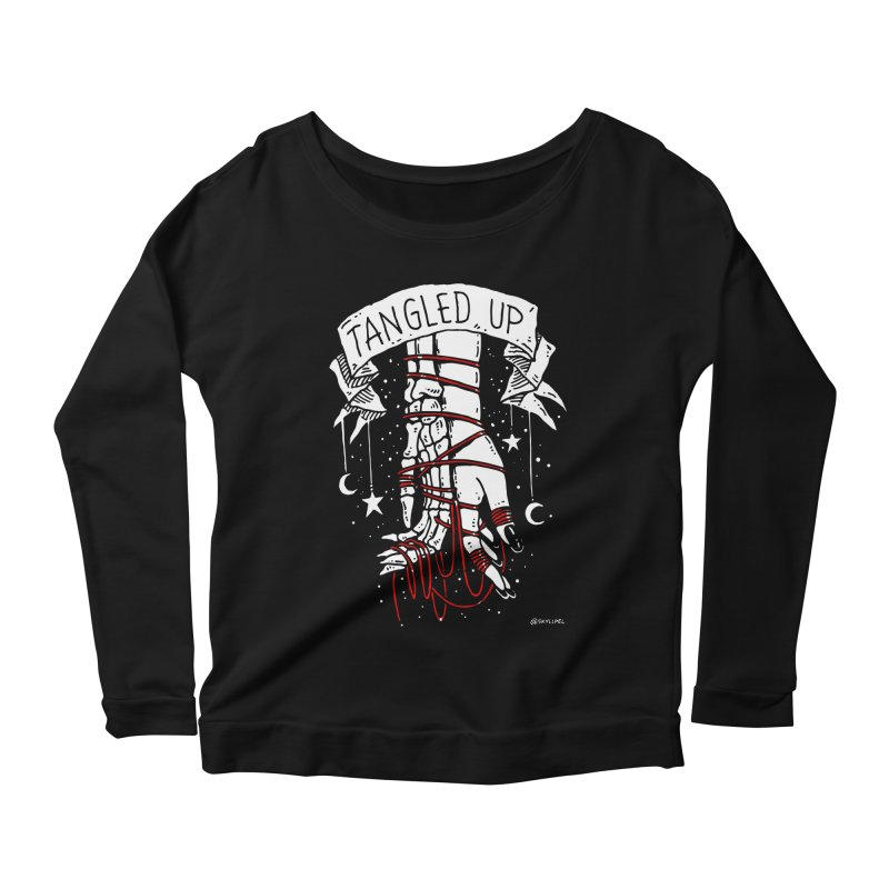 Tangled Up With You Women's Longsleeve Scoopneck  by skullpelillustrations's Artist Shop