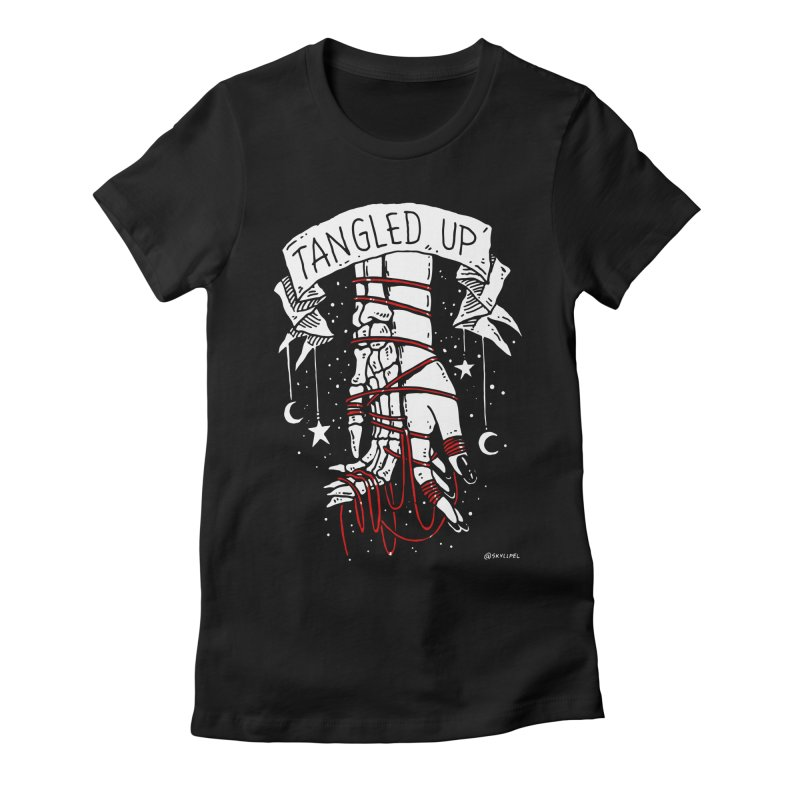 Tangled Up With You Women's Fitted T-Shirt by skullpelillustrations's Artist Shop