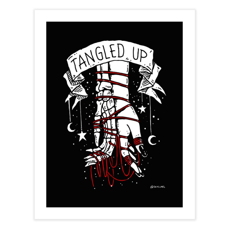 Tangled Up With You Home Fine Art Print by skullpelillustrations's Artist Shop