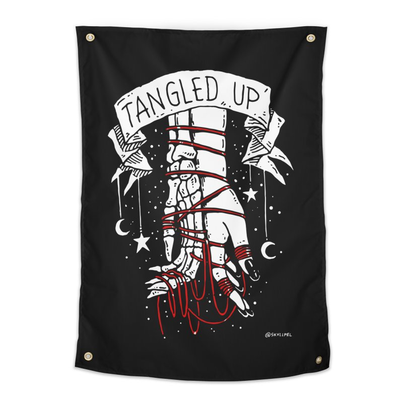 Tangled Up With You Home Tapestry by skullpelillustrations's Artist Shop