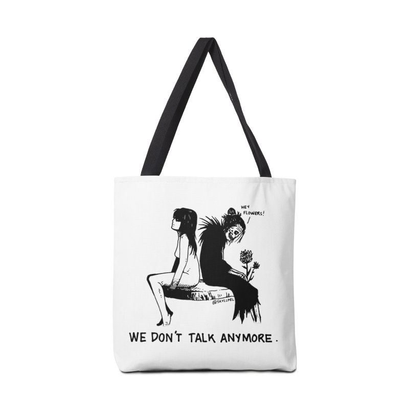 We Don't Talk Anymore Accessories Bag by skullpelillustrations's Artist Shop
