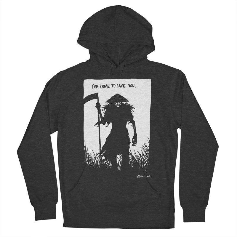I Have Come To Save You Women's French Terry Pullover Hoody by skullpelillustrations's Artist Shop