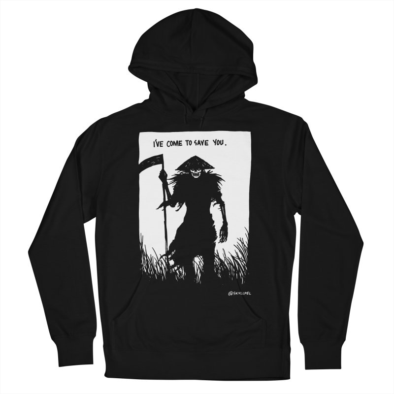 I Have Come To Save You Men's French Terry Pullover Hoody by skullpelillustrations's Artist Shop