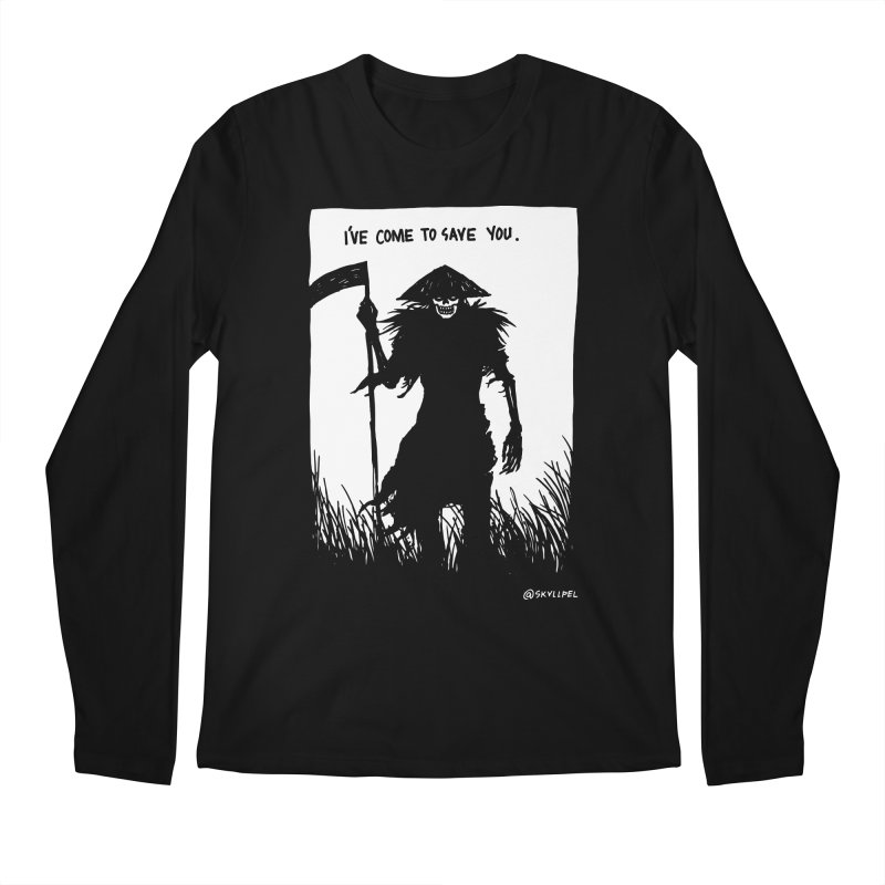 I Have Come To Save You Men's Regular Longsleeve T-Shirt by skullpelillustrations's Artist Shop