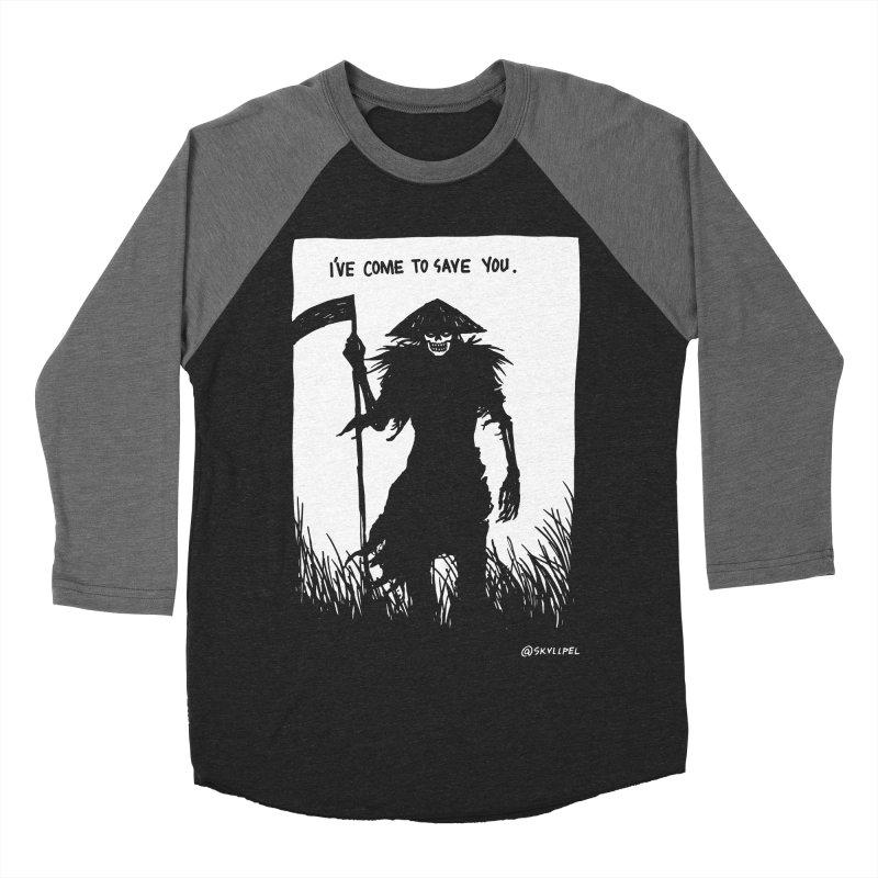 I Have Come To Save You Men's Baseball Triblend Longsleeve T-Shirt by skullpelillustrations's Artist Shop