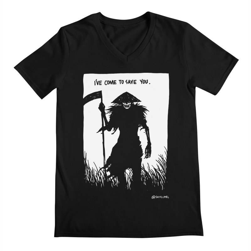 I Have Come To Save You Men's Regular V-Neck by skullpelillustrations's Artist Shop