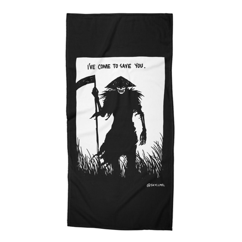 I Have Come To Save You Accessories Beach Towel by skullpelillustrations's Artist Shop