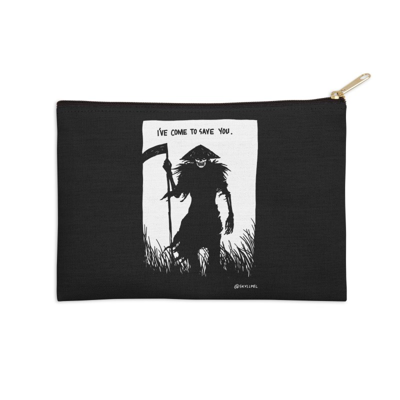I Have Come To Save You Accessories Zip Pouch by skullpelillustrations's Artist Shop