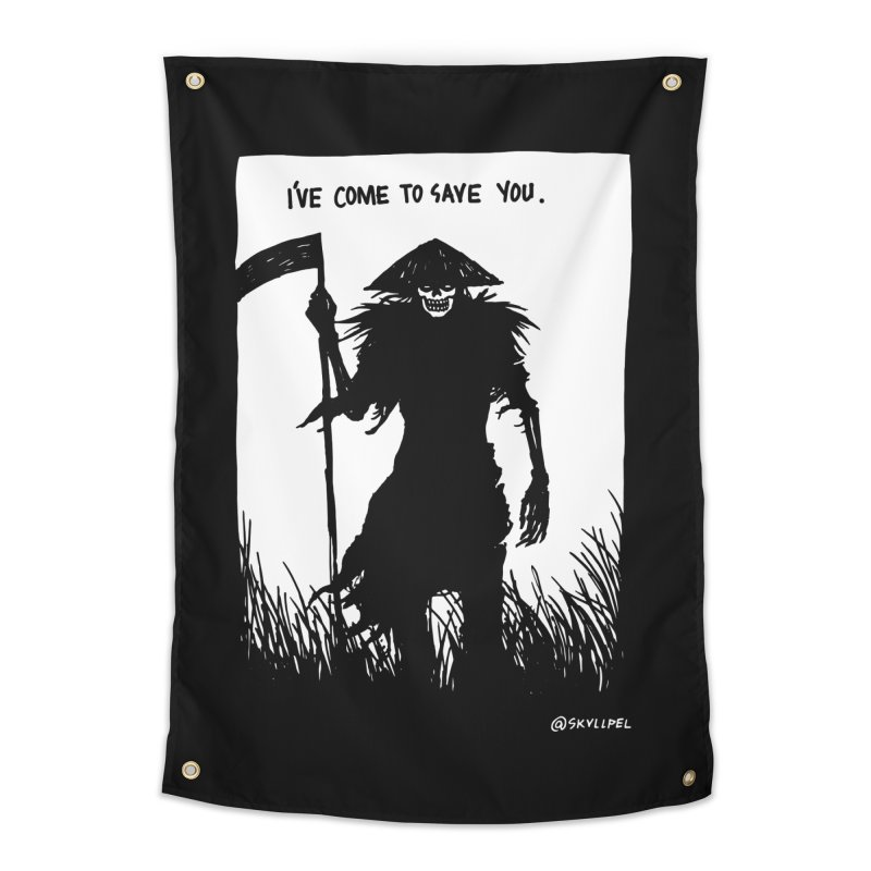 I Have Come To Save You Home Tapestry by skullpelillustrations's Artist Shop