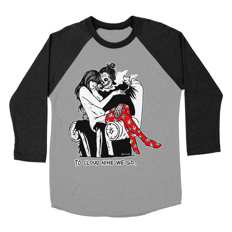 Cloud 9 Women's Baseball Triblend Longsleeve T-Shirt by skullpelillustrations's Artist Shop