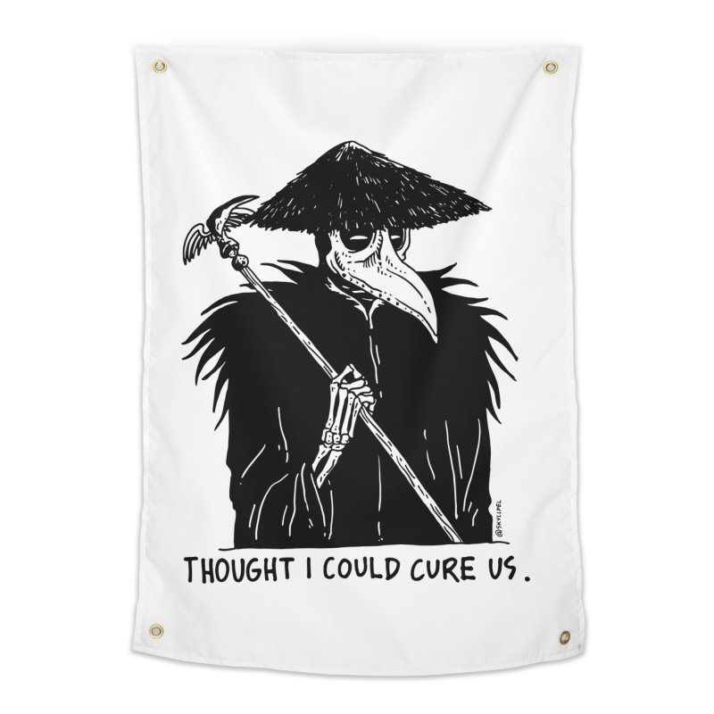 Thought I Could Cure Us Home Tapestry by skullpelillustrations's Artist Shop