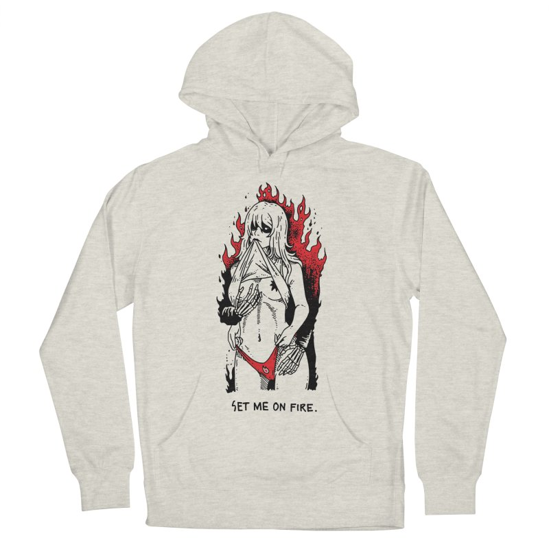 Set Me On Fire Women's French Terry Pullover Hoody by skullpelillustrations's Artist Shop