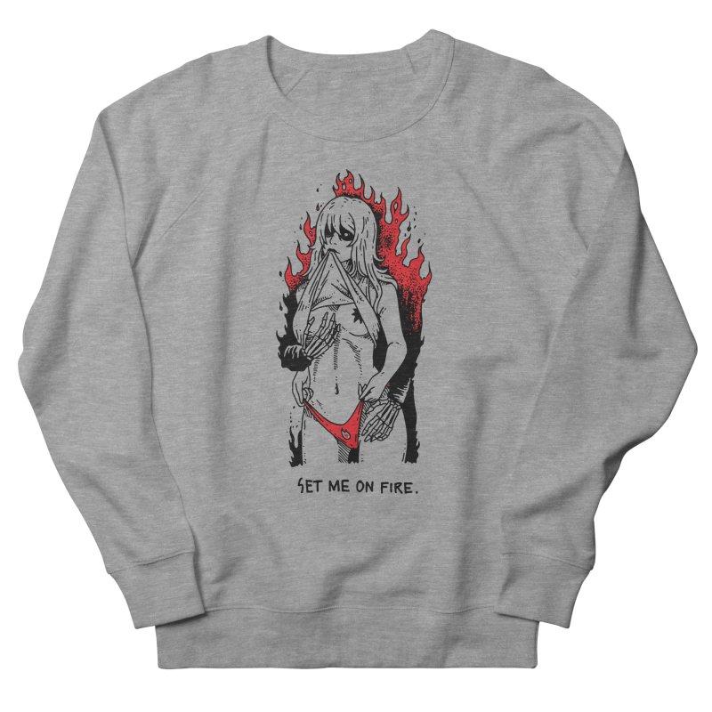 Set Me On Fire Men's French Terry Sweatshirt by skullpelillustrations's Artist Shop