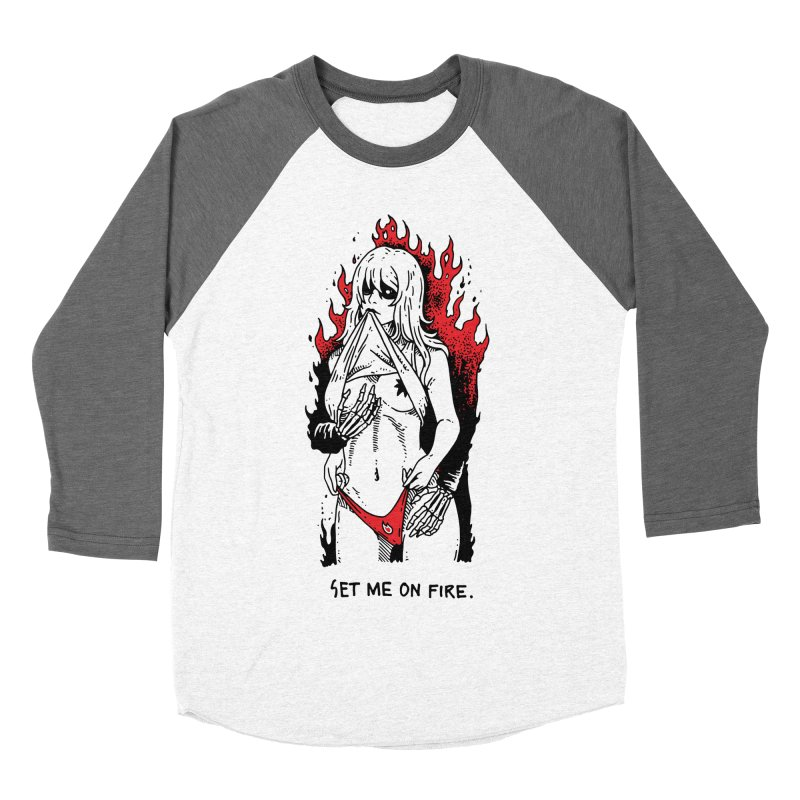 Set Me On Fire Men's Baseball Triblend Longsleeve T-Shirt by skullpelillustrations's Artist Shop