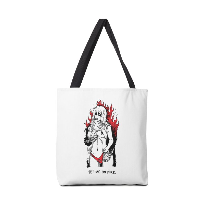 Set Me On Fire Accessories Bag by skullpelillustrations's Artist Shop