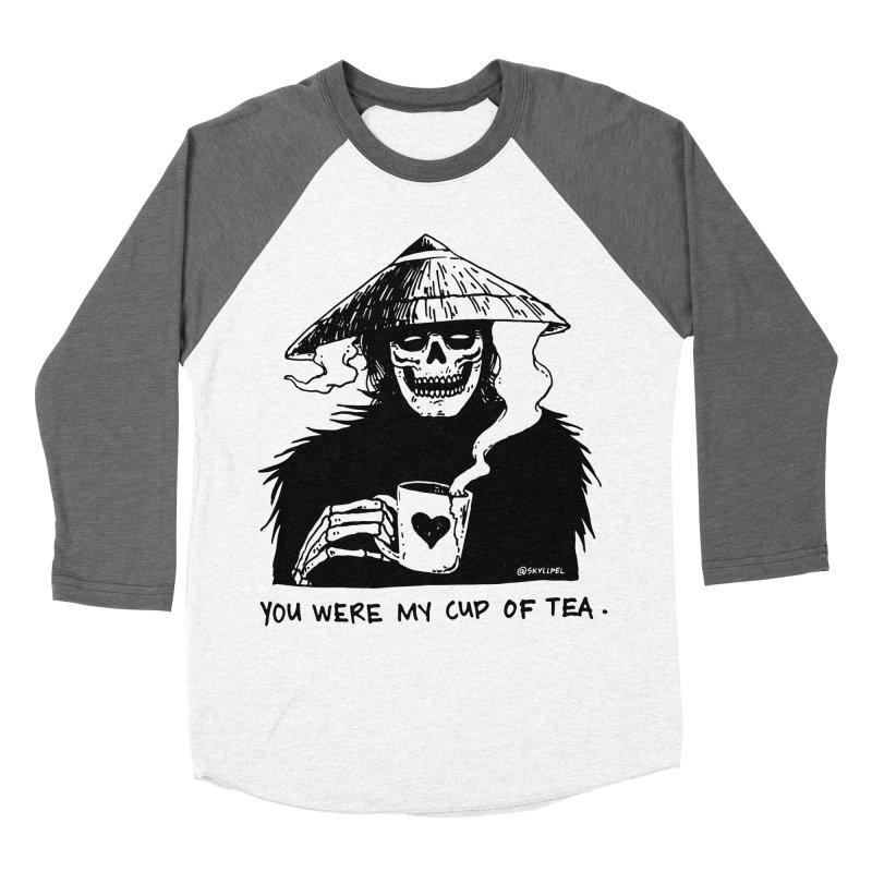 You Were My Cup of Tea Men's Baseball Triblend Longsleeve T-Shirt by skullpelillustrations's Artist Shop