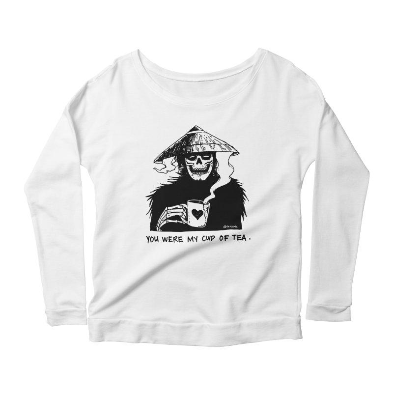 You Were My Cup of Tea Women's Scoop Neck Longsleeve T-Shirt by skullpel illustrations's Artist Shop