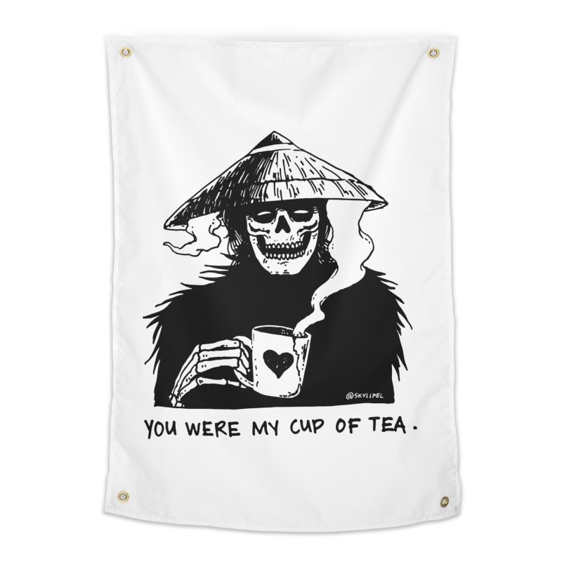 You Were My Cup of Tea Home Tapestry by skullpelillustrations's Artist Shop