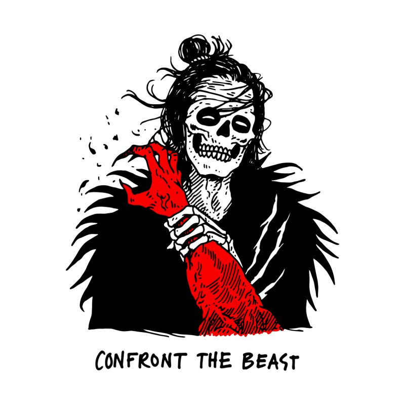 Confront The Beast by skullpelillustrations's Artist Shop