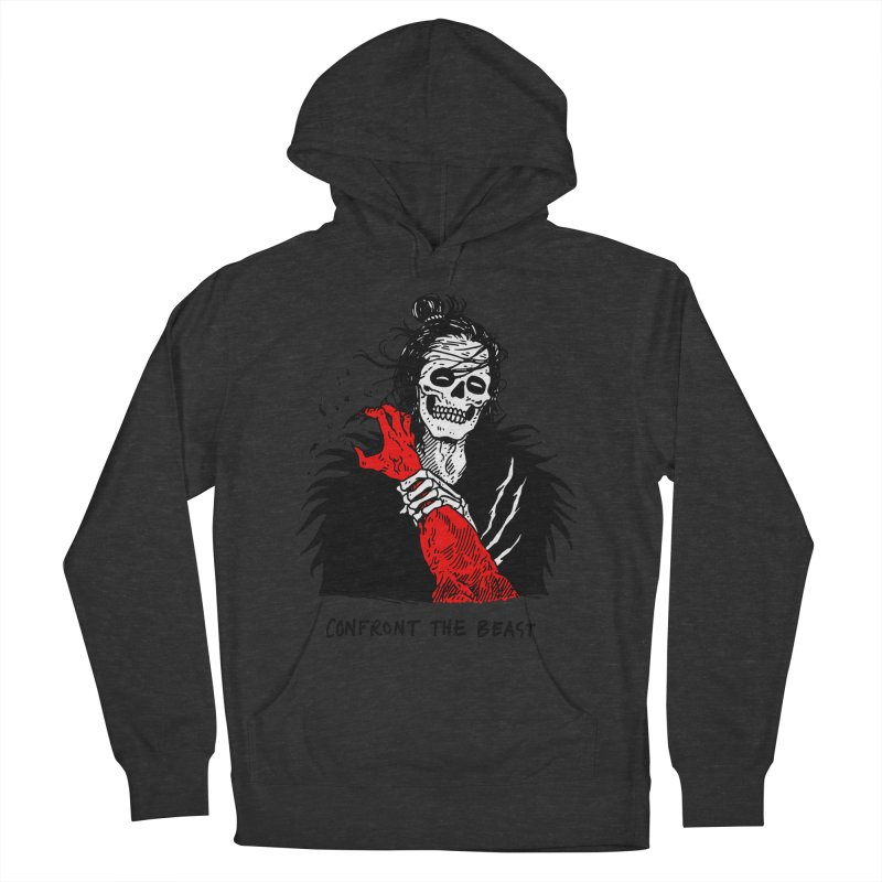 Confront The Beast Men's French Terry Pullover Hoody by skullpelillustrations's Artist Shop