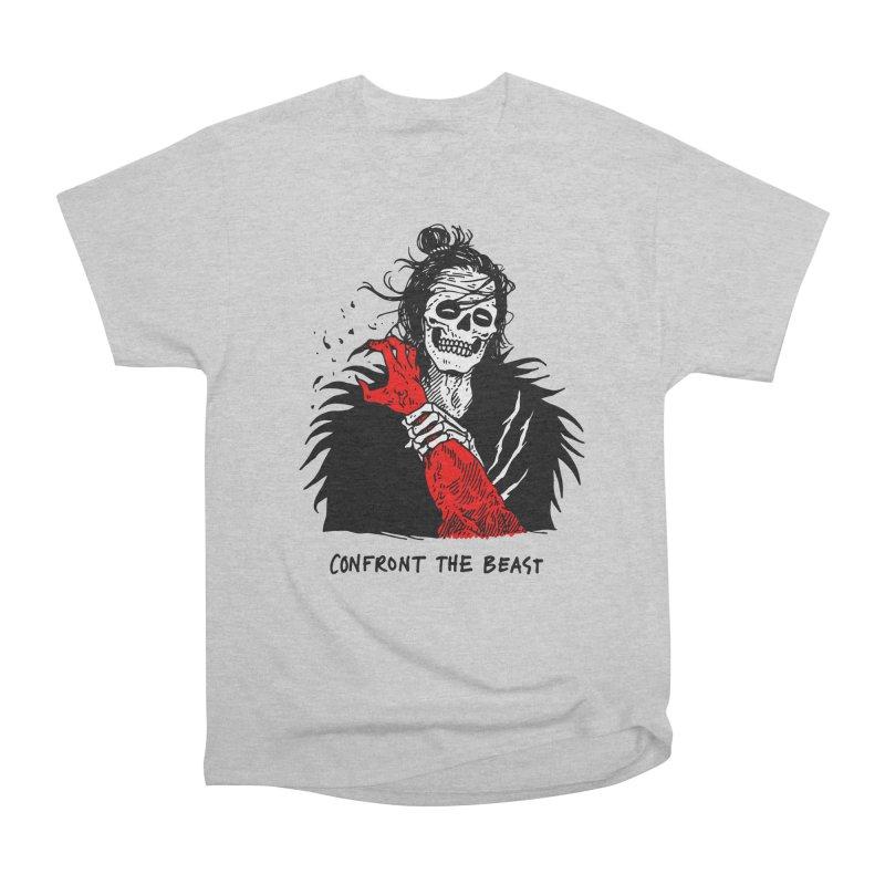 Confront The Beast Men's Heavyweight T-Shirt by skullpelillustrations's Artist Shop