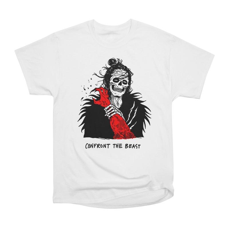 Confront The Beast Women's Heavyweight Unisex T-Shirt by skullpelillustrations's Artist Shop
