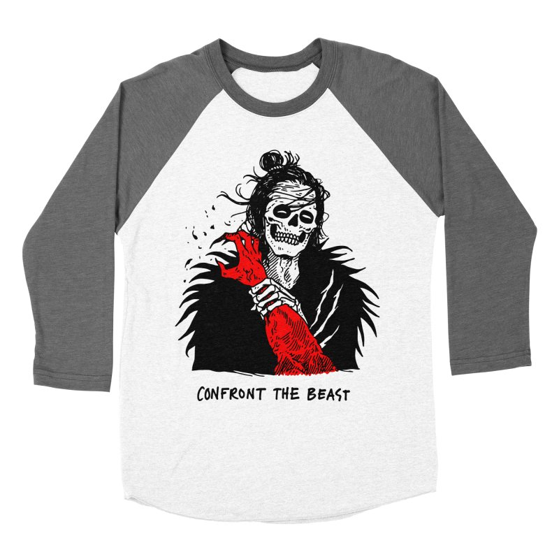 Confront The Beast Men's Baseball Triblend Longsleeve T-Shirt by skullpelillustrations's Artist Shop